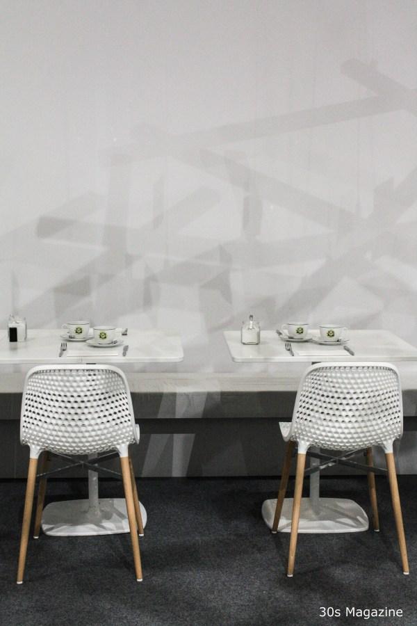 white restaurant decor
