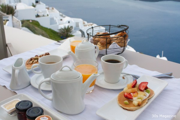 breakfast at the Kapari hotel Santorini