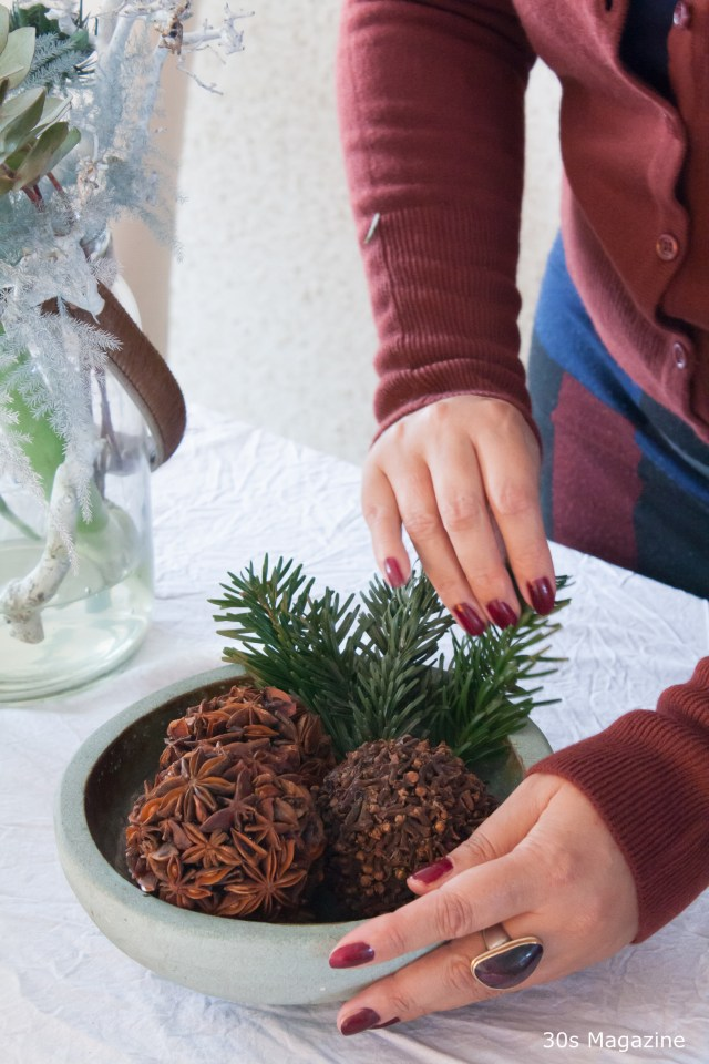 Adding Greenery to the Christmas Decor