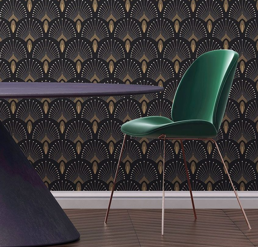 Trend: Art Deco Patterned Wallpaper