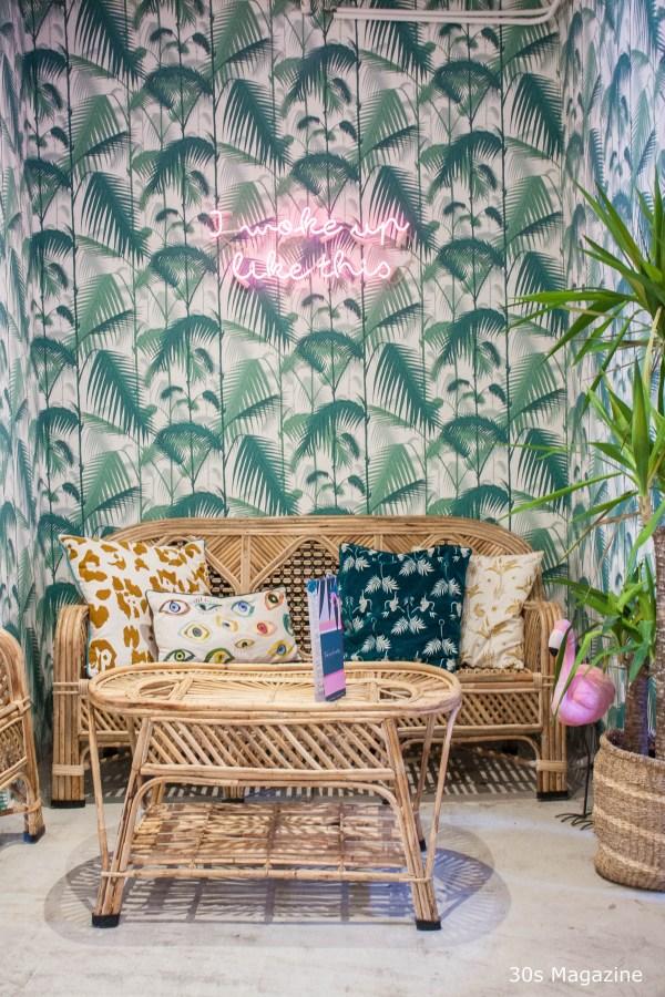 tropical corner at Cafe Martinus Haarlem