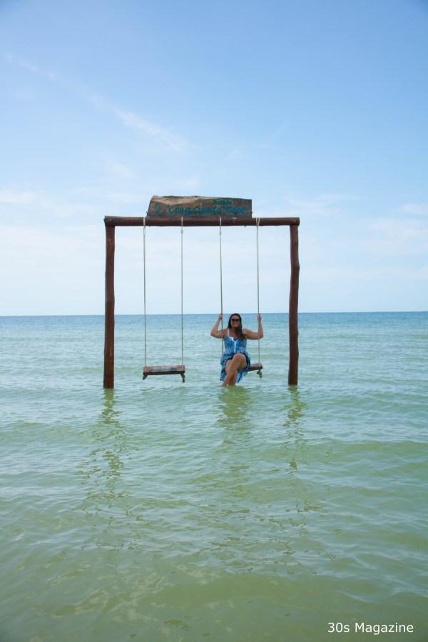 swing in sea in Holbox