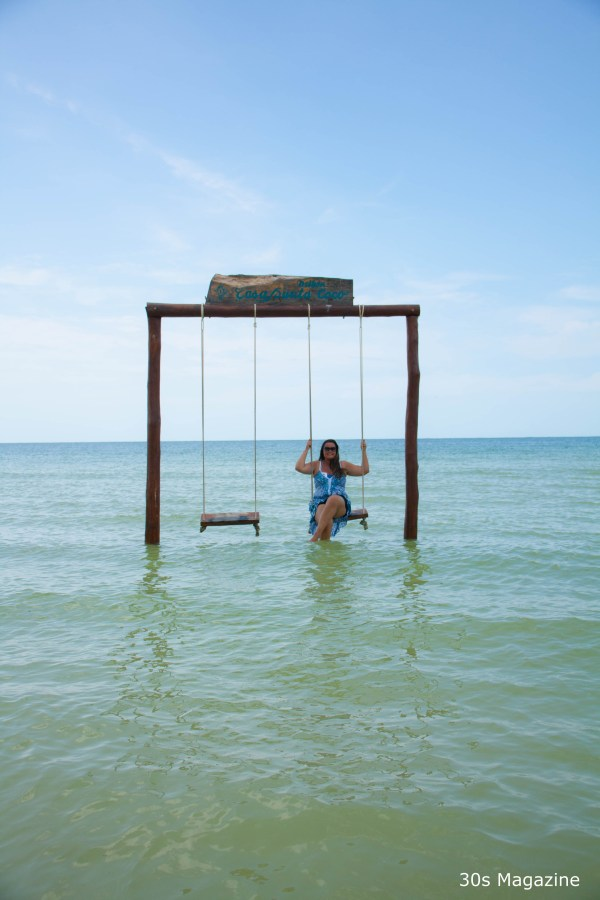 swing in sea in Holbox