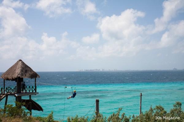 zip lining on Isla Mujeres