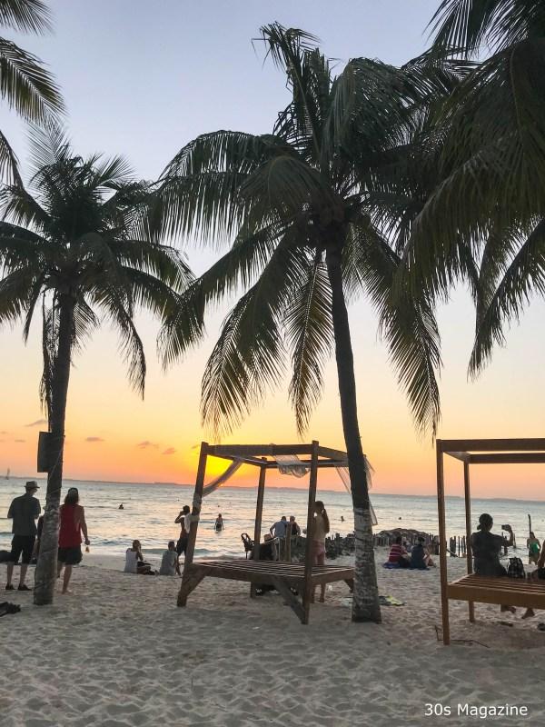 sunset at Playa Norte