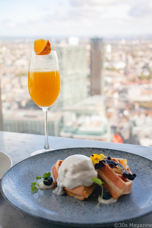 Breakfast at Duck and Waffle London