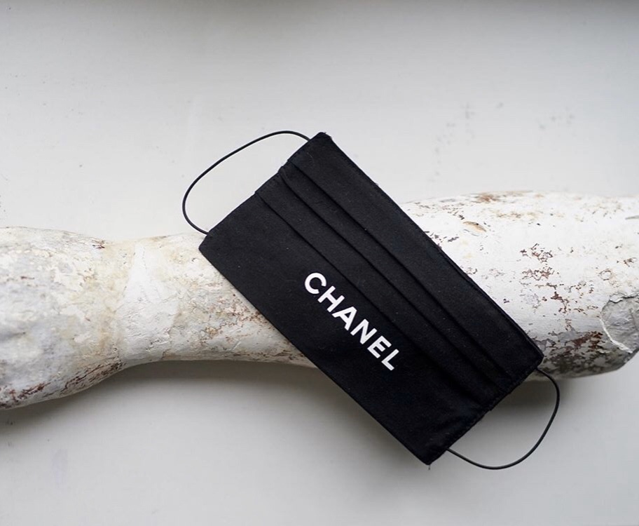 face mask with chanel logo