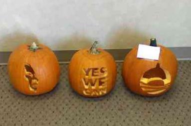 Jack-o-lanterns for Obama