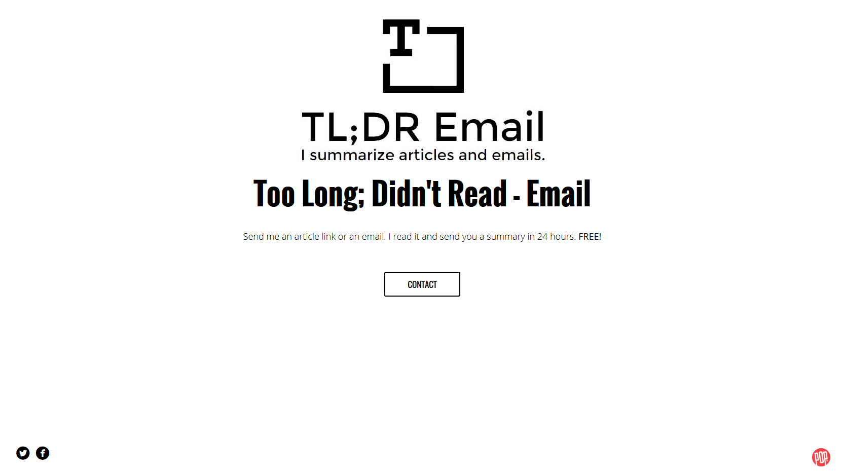 Project #2: TL;DR-Email