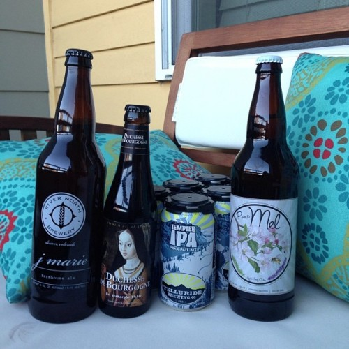 Good things are coming…. #drinkandspoon #telluridebrewing @coloradocidercompany @rivernorthbrew #duchesse #craftbeer