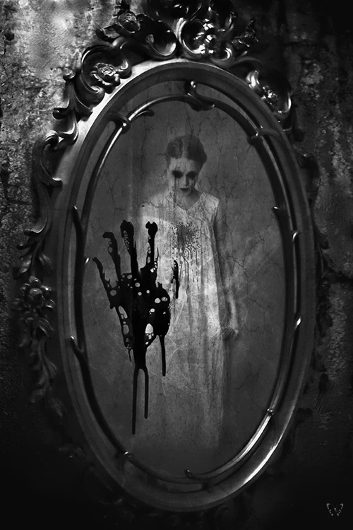 whitesoulblackheart:<br /> BLOODY MARY<br /> She's waiting for you.<br /> All you have to do is say<br /> her name three times.<br /> Then she will come for you.<br /> Your life will never be the same,<br /> for you will be dead.