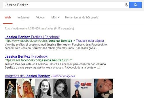 Jéssica Benítez en Google