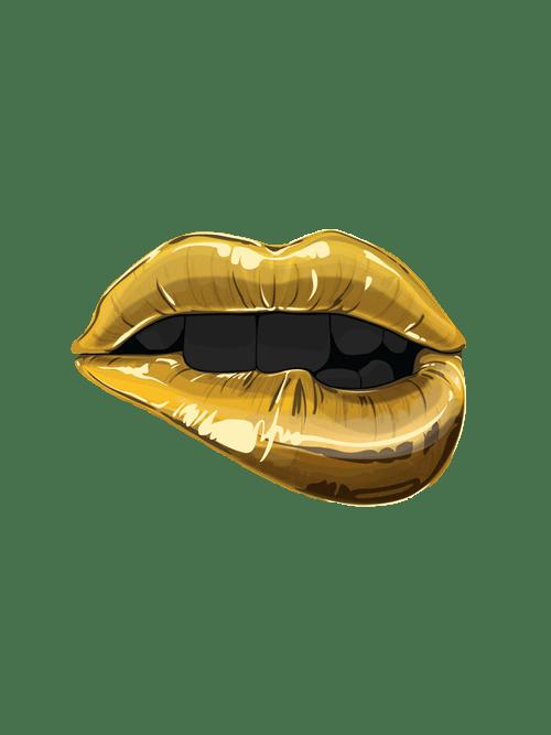 The Yellow Wallpaper Important Quotes Lips Gold Transparent Kalifornia Klasss Transparent Lips