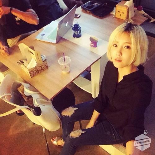 T-ara holic Update | hyomin: 녹음.녹음.녹음.
