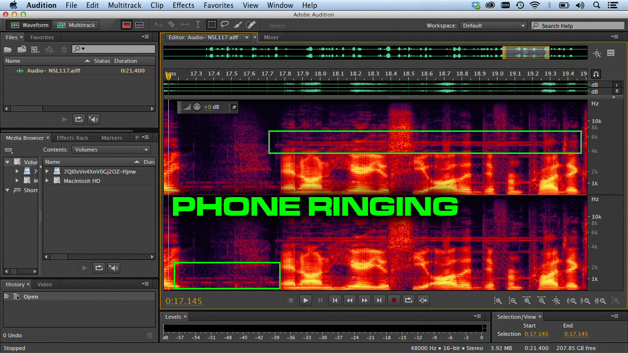 Adobe Audition CC removing sounds
