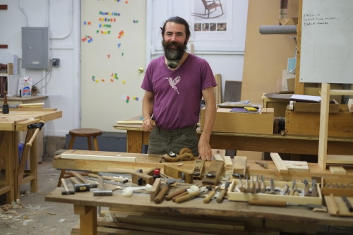 on Japanese woodworking with Yann Giguère at the Peters Valley School