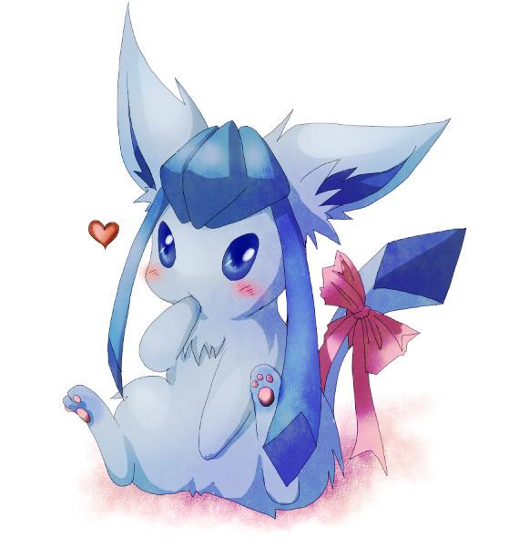 Cute Eeveelution Wallpaper Pokemon Cute Adorable Kawaii Pixiv Fan Art Glaceon