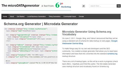 microdDATAgenerator - servicio web que te ayuda a crear códigos de Schema