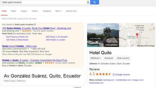 búsqueda local Google: la nueva función también está disponible en el Ecuador