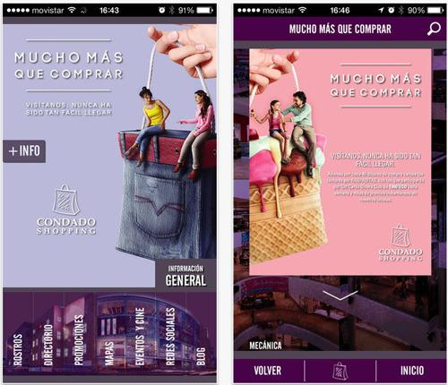 Aplicación para iOS del centro comercial Condado Shopping