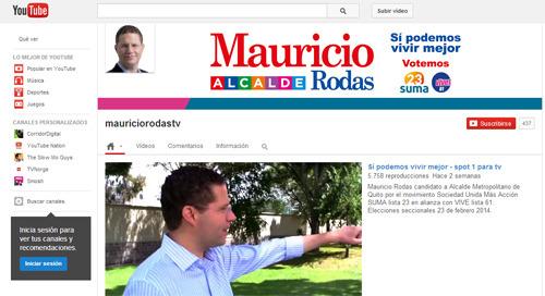 Mauricio Rodas en Youtube