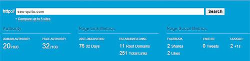 Backlinks según el Open Site Explorar