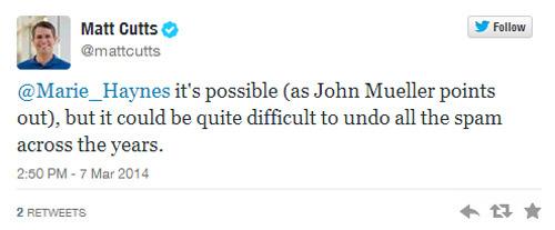 Matt Cutts: recuperar una página web castigada puede ser muy difícil