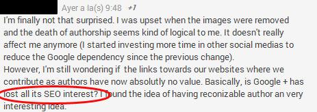 Para muchos webmaster Google+ fue importante para el posicionamiento web