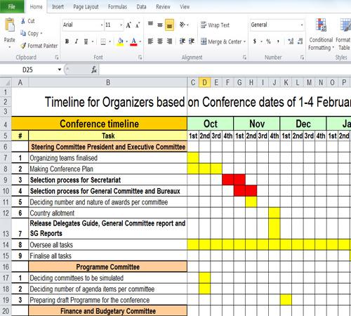 Free Timeline Spreadsheet Download Sample Timelines