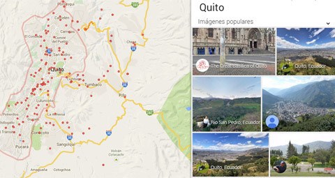fotos geoetiquetadas aparecen en Google Views y Google Maps