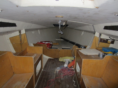 Olson 30 Sailboat Interior