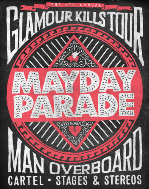 Excited to announce that Man Overboard, Cartel, and Stages & Stereos will be joining Mayday Parade for the Glamour Kills Tour! Tickets available now.