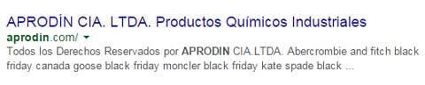 sitio web de aprodin que fue hackeado