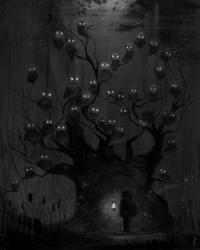 Black and White owls gothic art dark art fantasy art darkestdee darkestdee •