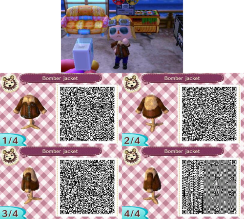 Image of: Crossing New Leaf Qr Animal Crossing Winter Clothes Qr Codes Shirt Designs Stained Glass Animal Crossing New Leaf Winter Dress Qr Codes The Halloween And