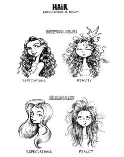 hair comics curly hair sharpie hair products hair problems