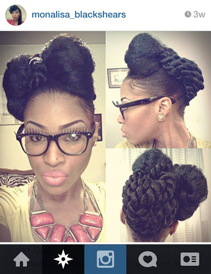 Instagram Natural Hair Natural Updo Twists African American Hair