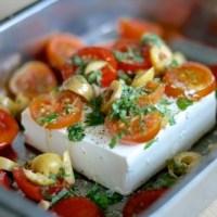 Bagt feta - græsk ostefondue