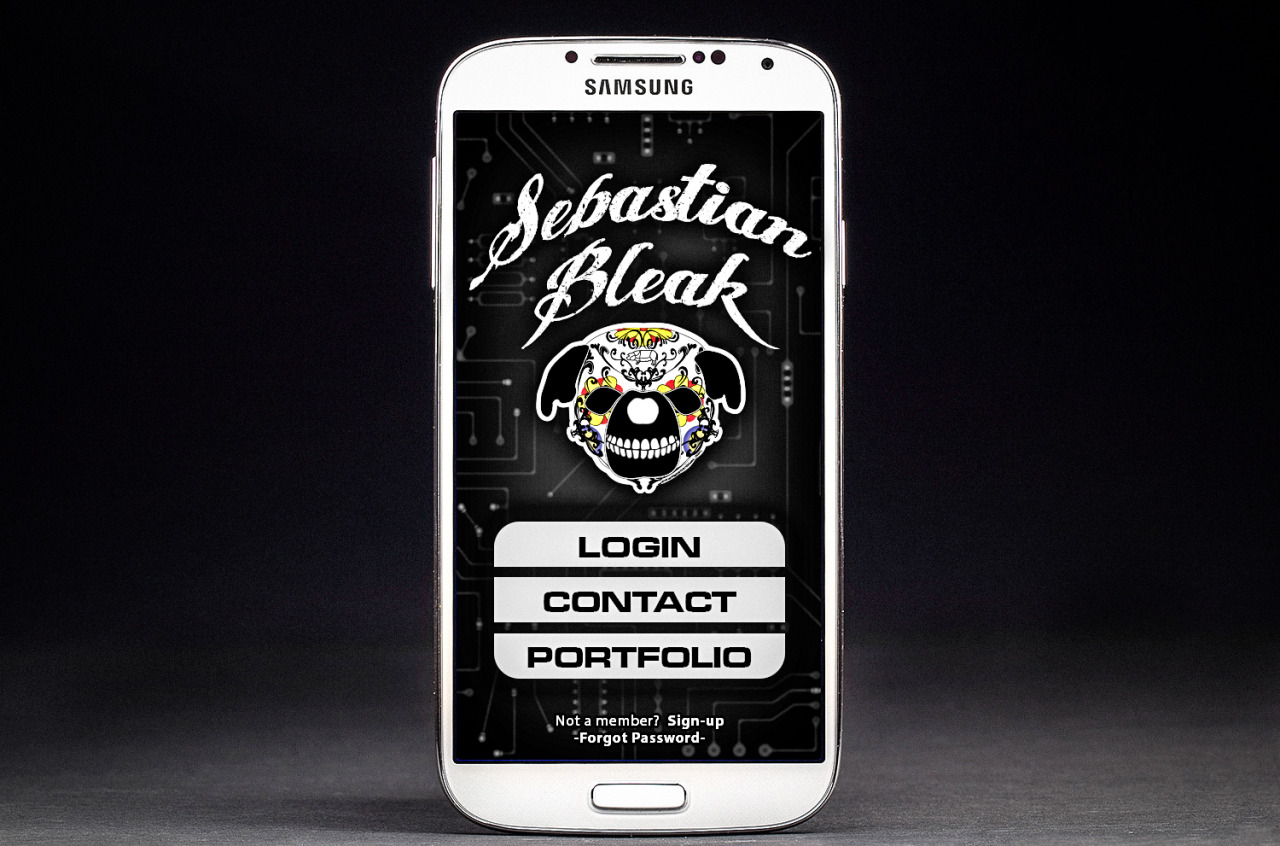 Samsung S4 Mobil App Mock-up in Photoshop CC
