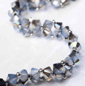 Crystal diamond chain bracelet