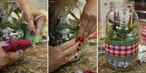 Mason Jar Kisses Gift by FrugElegance