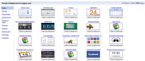 Gadgets de Google que pueden informar a Google sobre lo que hacen los visitantes de una página web