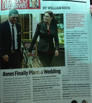 tvguide magazine on bones wedding