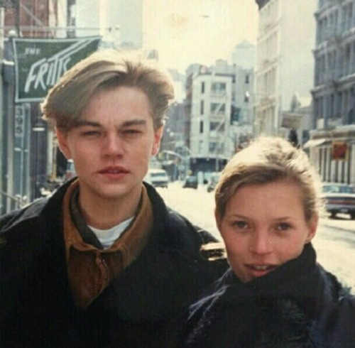 Kate Moss and Leonardo DiCaprio in NYC, 90s