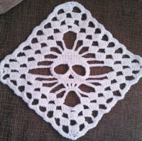 crochet skull shawl | Tumblr