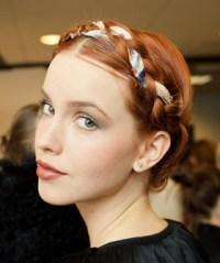 Milkmaid Braid With Ribbon | Refinery 29 Hair ...