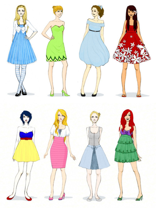 A fashionable update for Disney's favorite lady characters