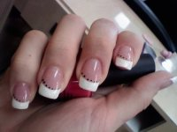 french tip nails on Tumblr
