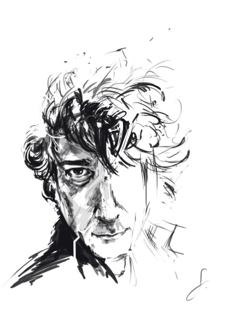 Neil Gaiman doodle (yes I know it looks terrible