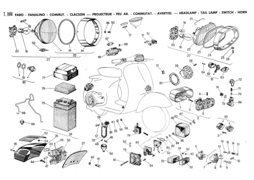 Vespa Rally 200 - Auto Electrical Wiring Diagram on